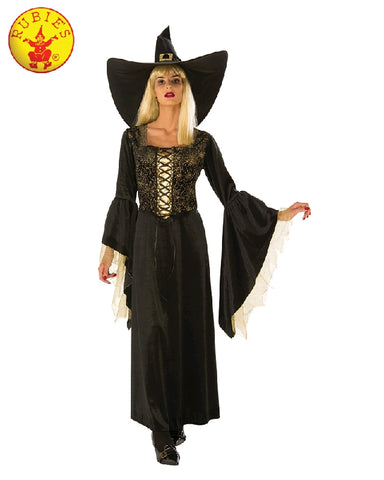 GOLDEN WEB WITCH COSTUME, ADULT - SIZE S