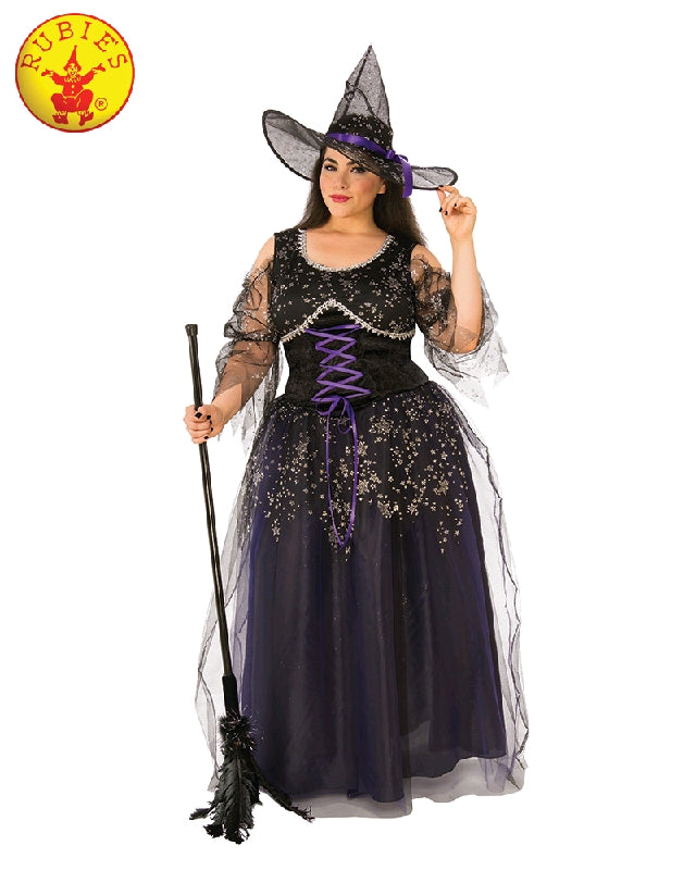 MIDNIGHT WITCH COSTUME, ADULT - SIZE PLUS