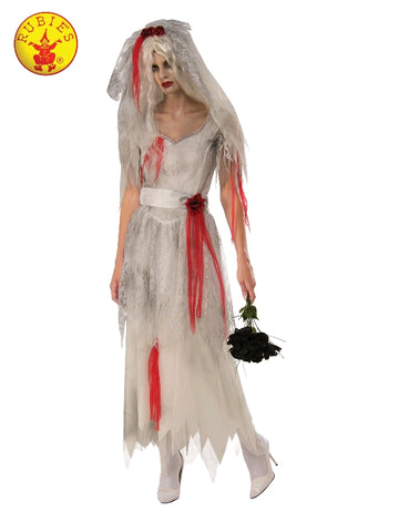 GHOST BRIDE COSTUME, ADULT - SIZE M