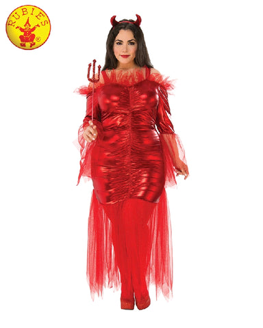 RED DEVIL COSTUME, ADULT - SIZE PLUS