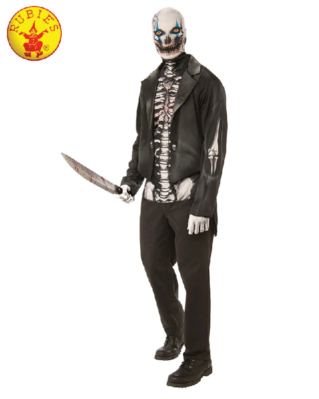 SCARY SKELETON MAN COSTUME, ADULT - SIZE XL