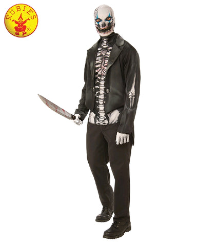 SCARY SKELETON MAN COSTUME, ADULT - SIZE STD