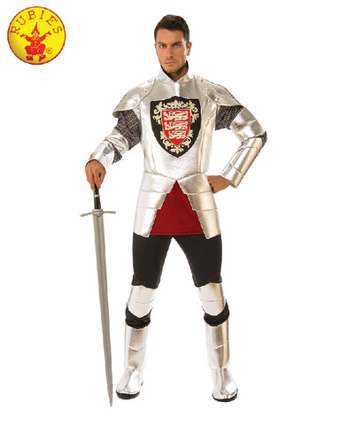 SILVER KNIGHT COSTUME, ADULT - SIZE STD