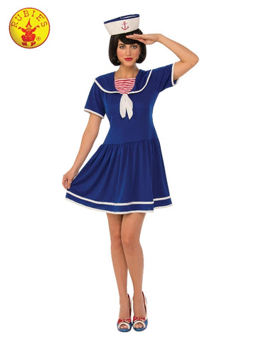 BLUE SAILOR WOMENS COSTUME, ADULT - SIZE M