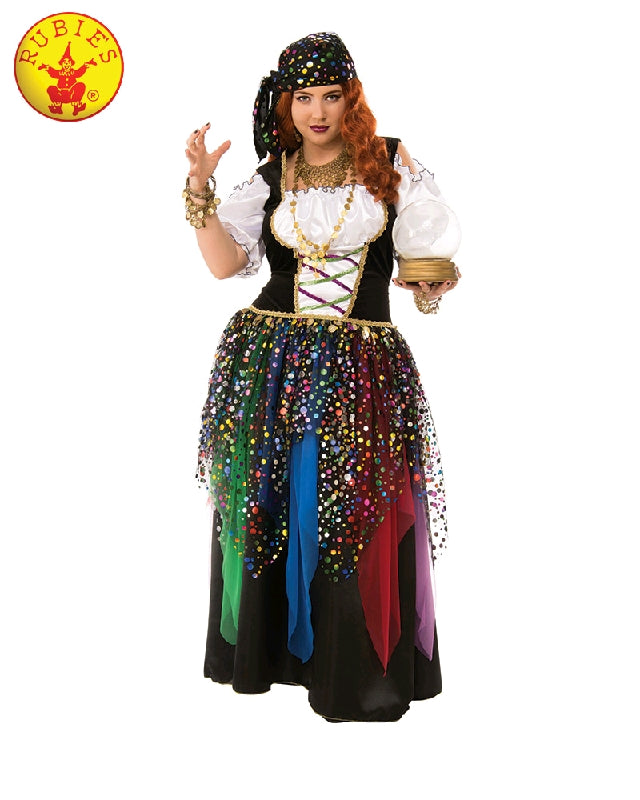 GYPSY FORTUNE TELLER COSTUME, ADULT - SIZE PLUS