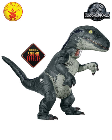JURASSIC VELOCIRAPTOR COSTUME WITH SOUND, ADULT - SIZE STD
