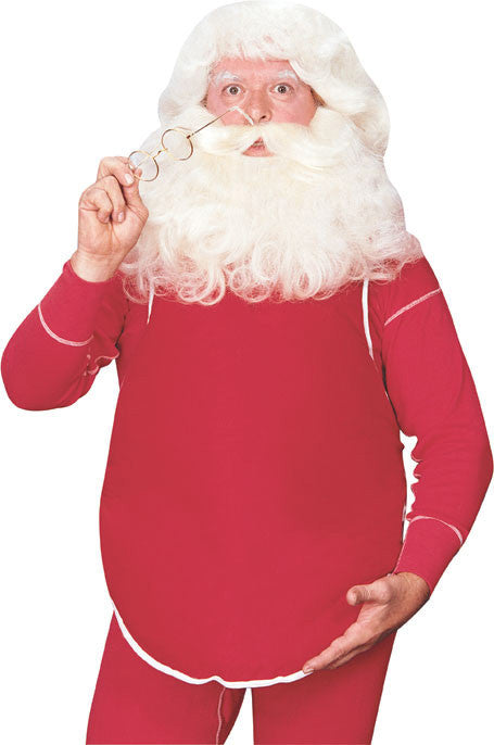 SANTA CLAUS STUFFED BELLY, ADULT SIZE