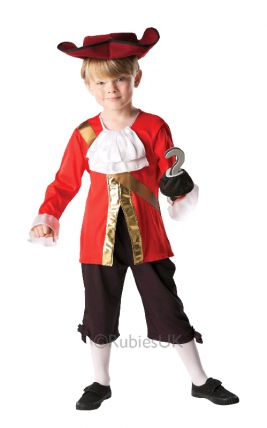 CAPTAIN HOOK DISNEY COSTUME, CHILD - SIZE M