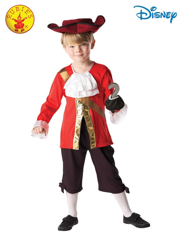 CAPTAIN HOOK DISNEY COSTUME, CHILD - SIZE S