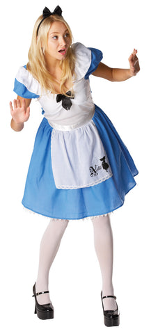 ALICE IN WONDERLAND COSTUME, ADULT - SIZE M
