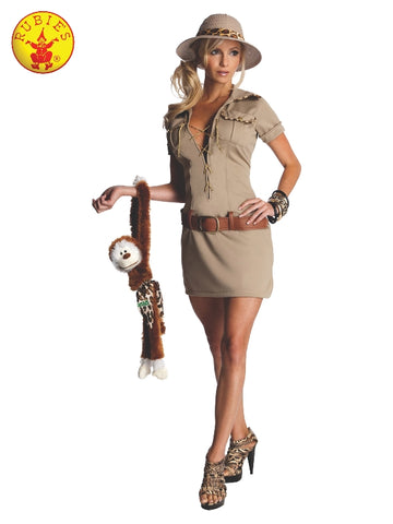 JANE OF THE JUNGLE EXPLORER COSTUME, ADULT - SIZE S