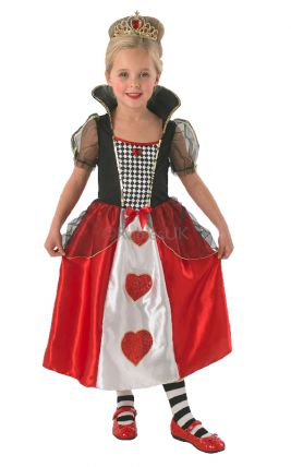 QUEEN OF HEARTS COSTUME, CHILD - SIZE S