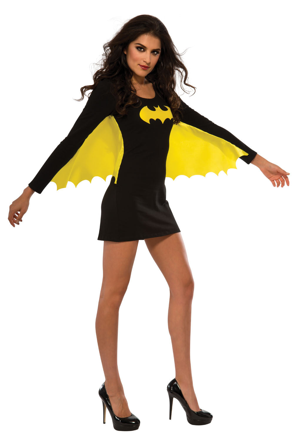 BATGIRL BODYCON DRESS WINGED, ADULT - SIZE L