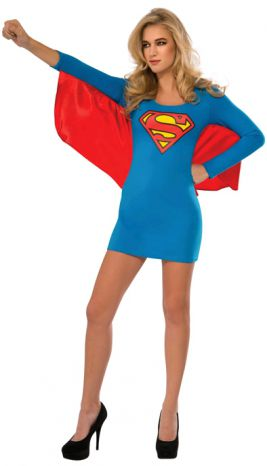 SUPERGIRL DRESS WITH WINGS - SIZE L