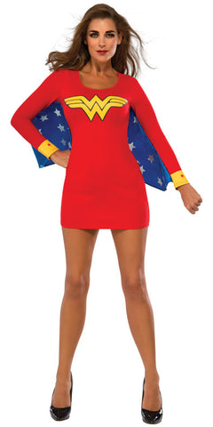 WONDER WOMAN DRESS WITH WINGS - SIZE L
