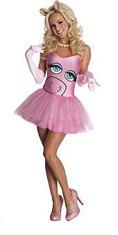 MISS PIGGY COSTUME - SIZE L
