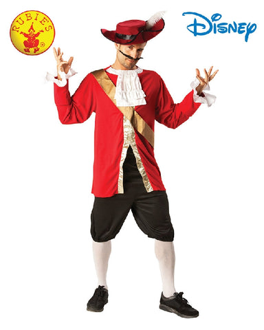 CAPTAIN HOOK DISNEY COSTUME, ADULT - SIZE STD