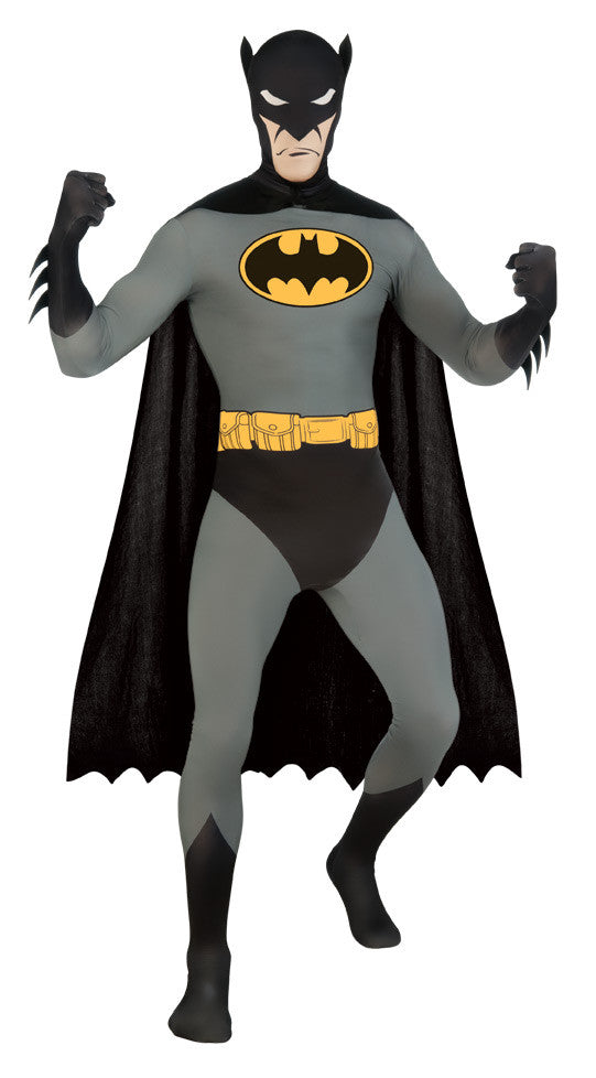 BATMAN 2ND SKIN SUIT COSTUME, ADULT - SIZE L