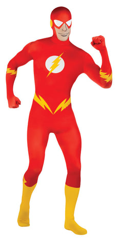 THE FLASH 2ND SKIN SUIT COSTUME, ADULT - SIZE XL