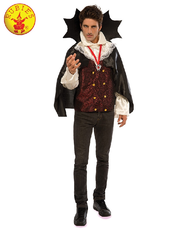 BIG COLLAR VAMPIRE COSTUME, ADULT - SIZE STD