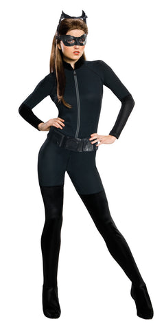 CATWOMAN DELUXE SUPERHERO COSTUME, ADULT - SIZE S