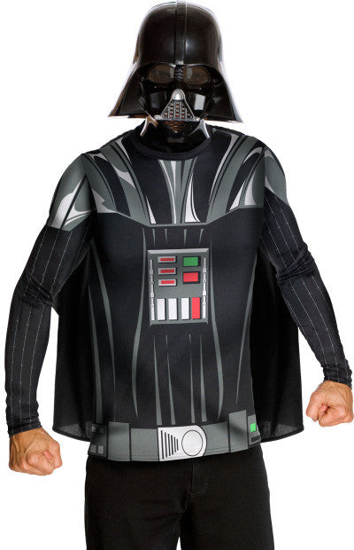DARTH VADER COSTUME TOP AND MASK - SIZE L
