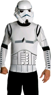 STORMTROOPER CLASSIC COSTUME TOP & MASK - SIZE M