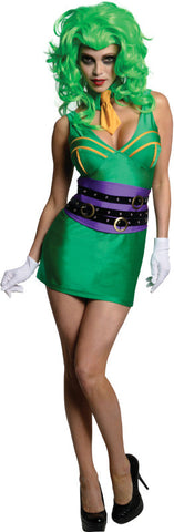 THE JOKER SUPER VILLAIN SEXY COSTUME, ADULT - SIZE L