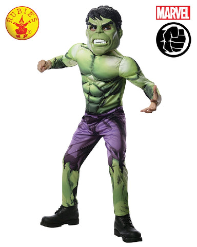 HULK DELUXE SUPERHERO COSTUME, CHILD - SIZE S