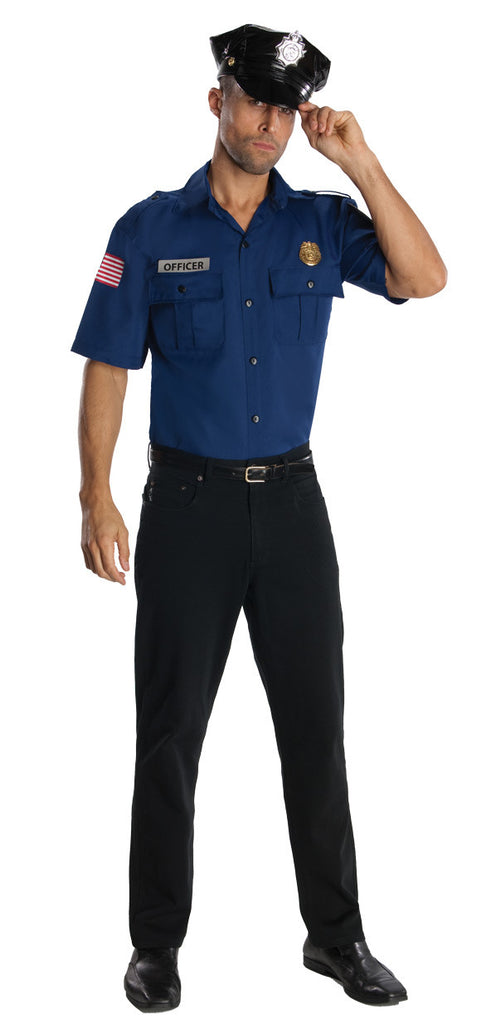 POLICE OFFICER COSTUME, ADULT - SIZE XL