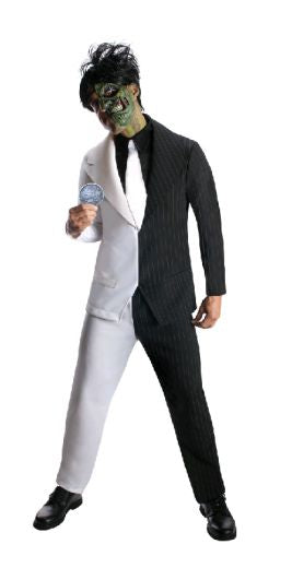 TWO FACE DELUXE COSTUME, ADULT - SIZE L