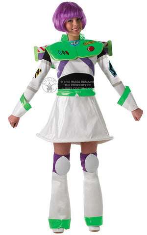 BUZZ TOY STORY LADIES COSTUME, ADULT - SIZE S