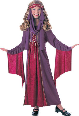 GOTHIC PRINCESS HISTORICAL COSTUME, CHILD - SIZE S