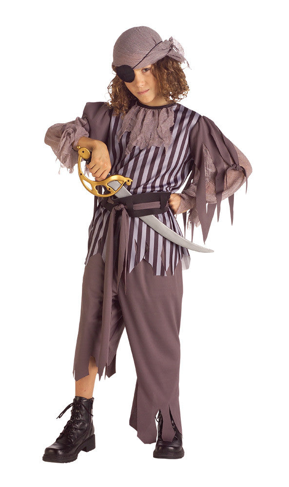 GHOSTSHIP CAPTAIN PIRATE COSTUME, CHILD - SIZE S