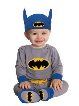 BATMAN ONESIE (GREY/BLUE) - SIZE 6-12 MONTHS
