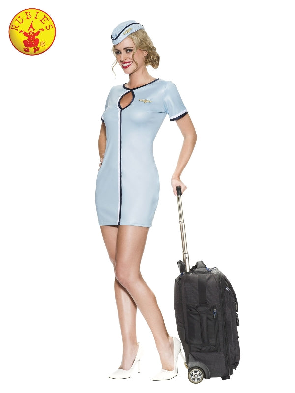 AIR HOSTESS 60'S COSTUME, ADULT - SIZE L