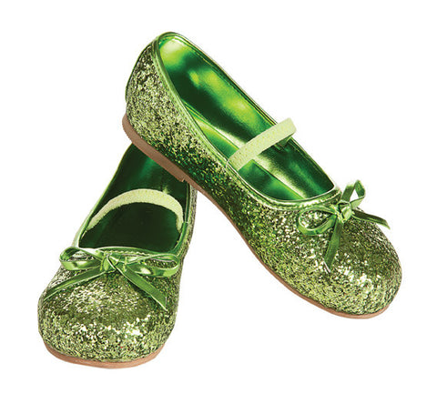 GLITTER SHOES GREEN - SIZE M
