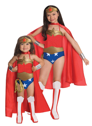 WONDER WOMAN CLASSIC TV SHOW COSTUME, CHILD - SIZE S