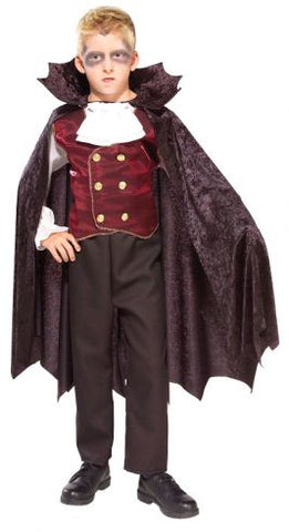 VAMPIRE DELUXE COSTUME, CHILD - SIZE S