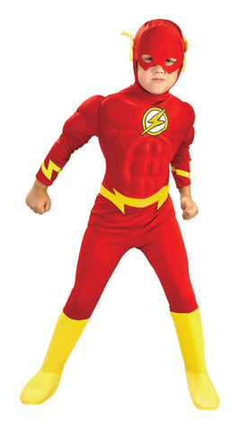 THE FLASH DELUXE MUSCLE CHEST COSTUME, CHILD - SIZE S