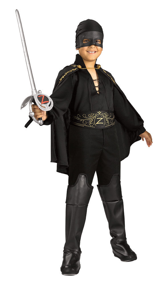 ZORRO COSTUME, CHILD - SIZE M