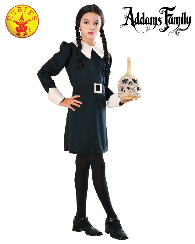 WEDNESDAY ADDAMS COSTUME, CHILD - SIZE S
