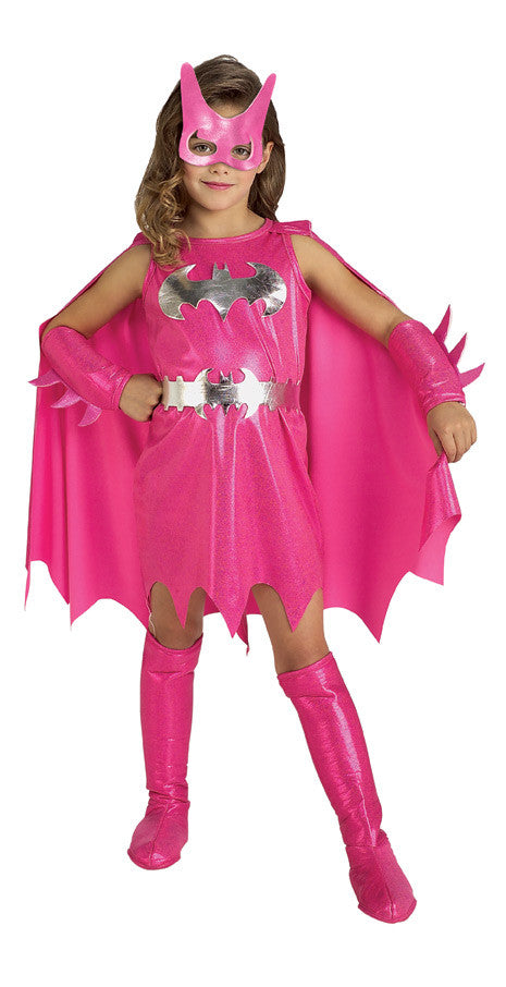 BATGIRL PINK COSTUME, CHILD - SIZE M