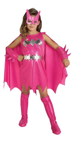 BATGIRL PINK COSTUME, CHILD - SIZE TODDLER