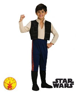 HAN SOLO DELUXE COSTUME, CHILD - SIZE S