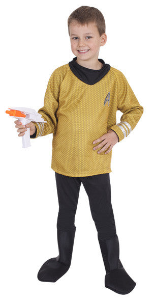CAPTAIN KIRK STAR TREK COSTUME, CHILD - SIZE S