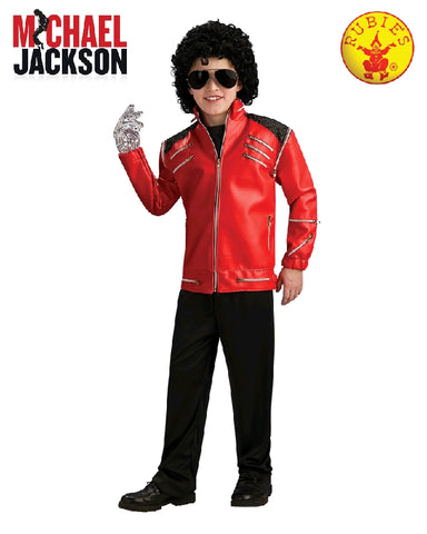 MICHAEL JACKSON BEAT IT DELUXE RED ZIPPER JACKET, CHILD - SIZE M