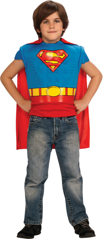 SUPERMAN MUSCLE CHEST COSTUME TOP - SIZE M