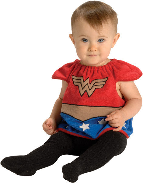 WONDER WOMAN DELUXE COSTUME TOP - SIZE 0-6 MONTHS