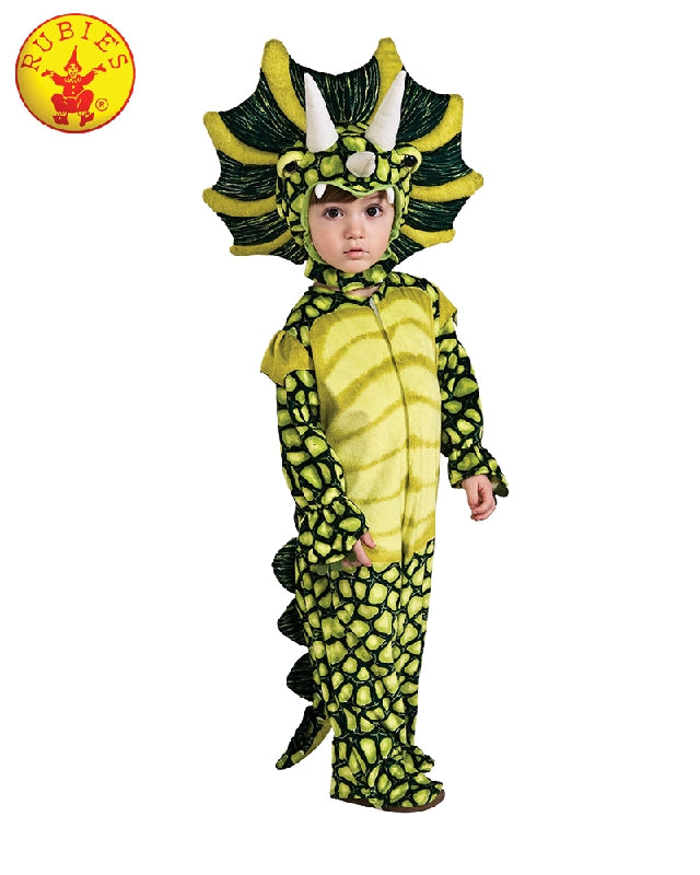 TRICERATOPS DINOSAUR COSTUME, CHILD - SIZE S